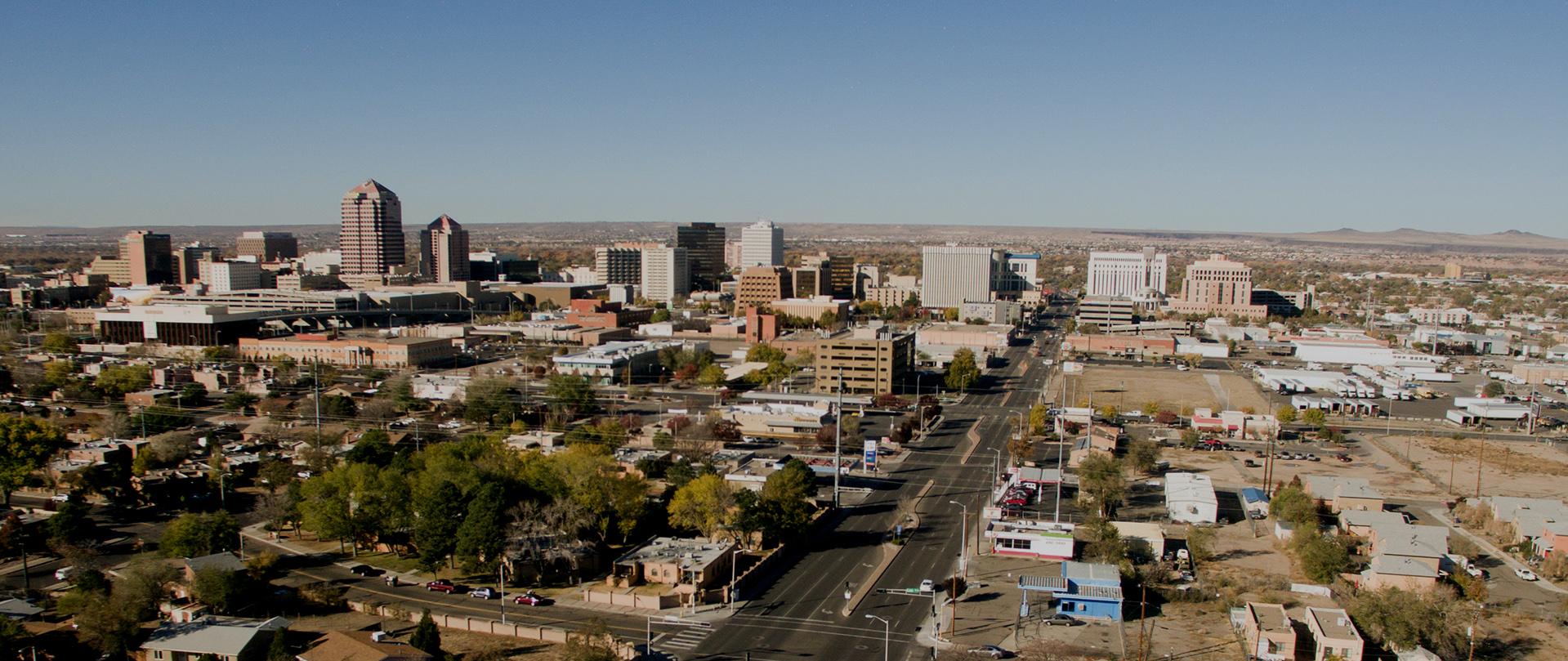 Albuquerque Downtown City Metro Skyline Desert South New Mexico