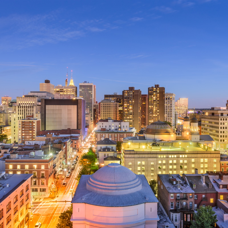 baltimore maryland cityscape PB6Y7G2