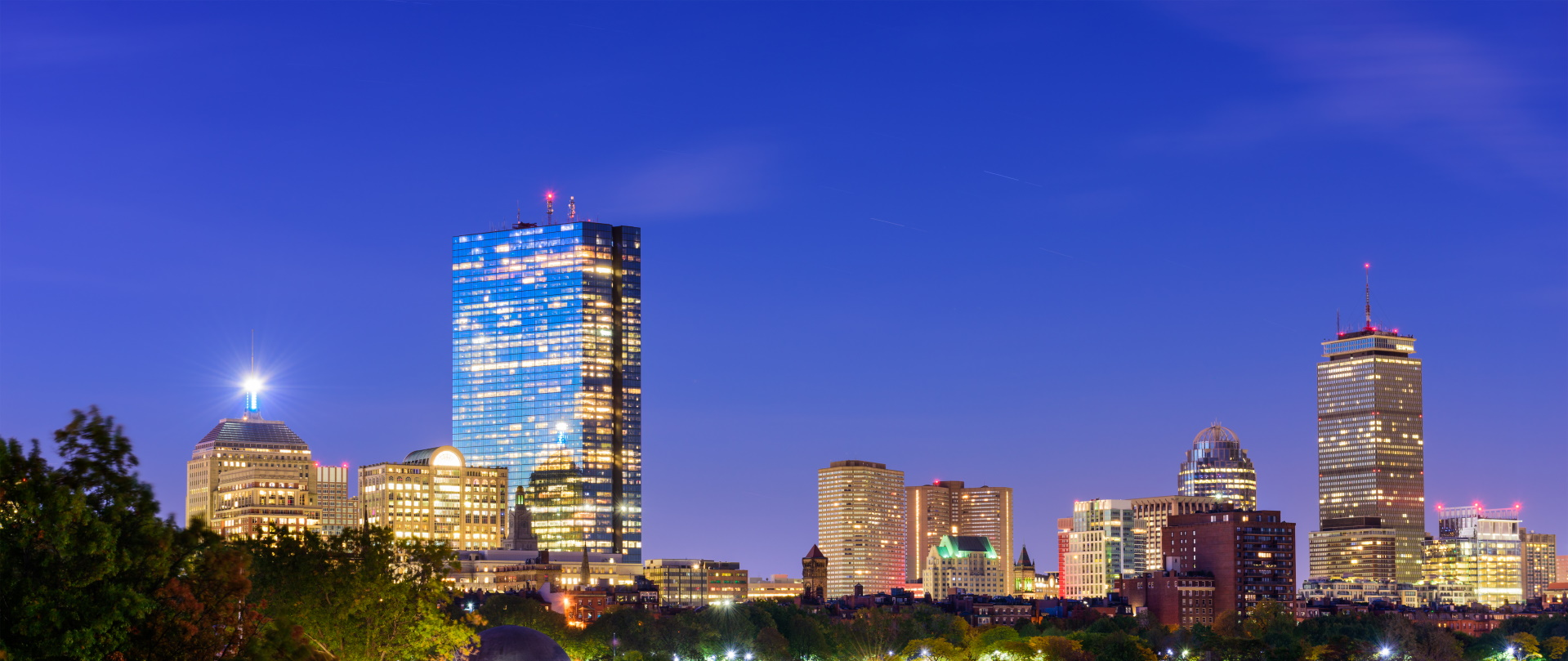 boston massachusetts skyline PA67X7W