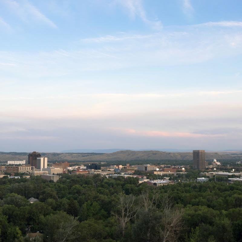 bozeman montana downtown city skyline north americ PYD6FE5