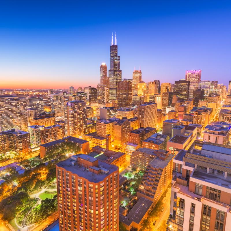 chicago illinois usa skyline B5ZPS8R