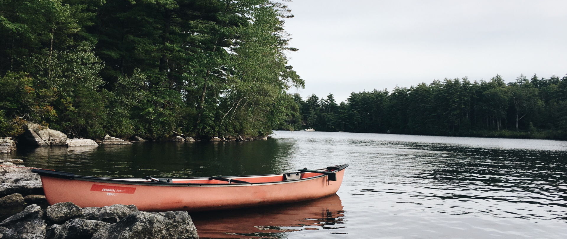 kayaking on the lake in new hampshire VPP54BD