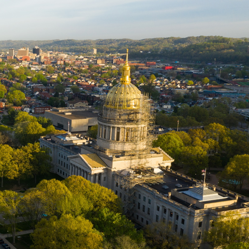 long panoramic view charleston west virginia capit JF5DVSX