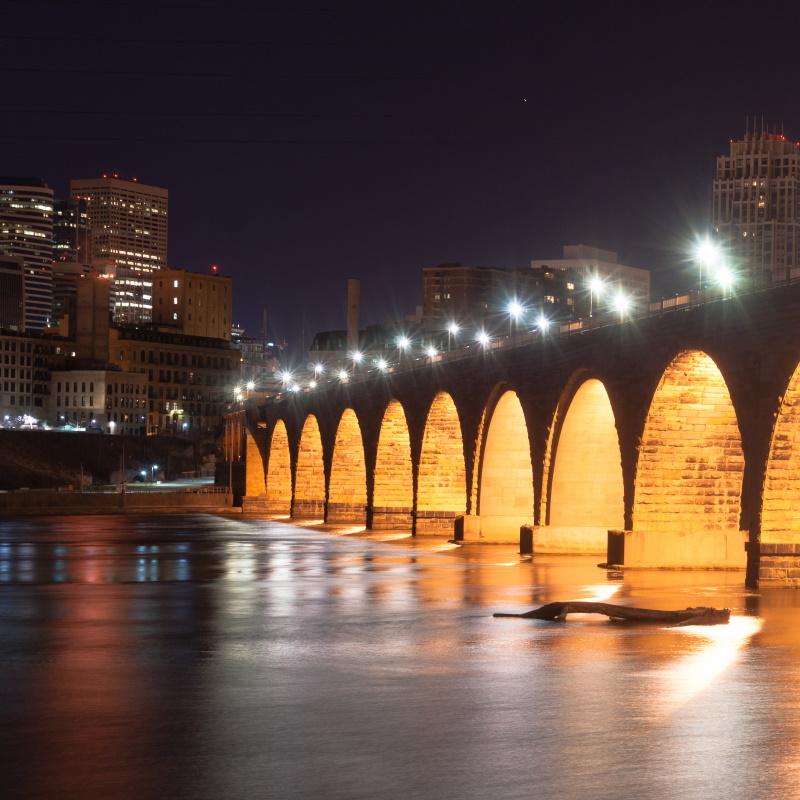 stone arch bridge st paul minnesota mississippi ri PAZGADC