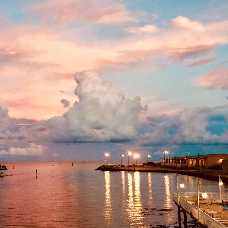 sunset over gulfport harbor nominated UAMRDWA