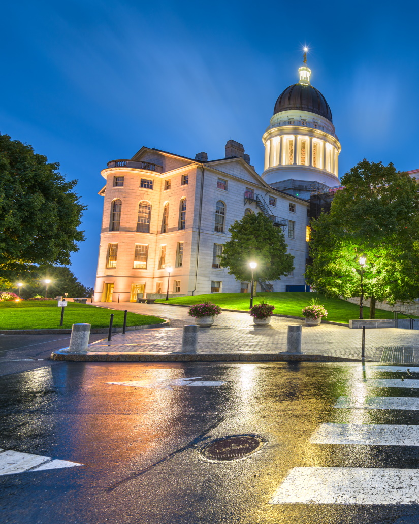 the maine state house in augusta maine AKEC5GZ